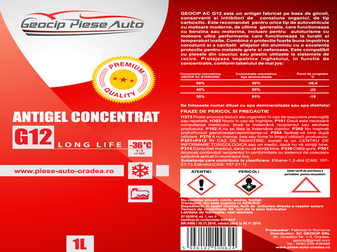 Antigel concentrat g12 1l